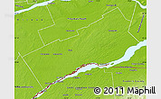 Physical Map of Stormont, Dundas and Glengarry