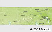 Physical Panoramic Map of Timiskaming