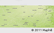 Physical Panoramic Map of Wellington