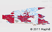 Flag Panoramic Map of Canada