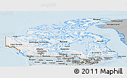 Gray Panoramic Map of Canada