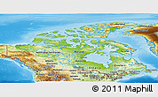 Physical Panoramic Map of Canada