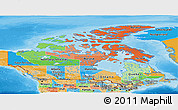 Political Panoramic Map of Canada