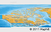 Political Shades Panoramic Map of Canada