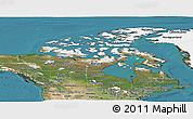 Satellite Panoramic Map of Canada
