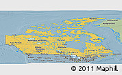 Savanna Style Panoramic Map of Canada