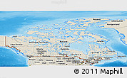Shaded Relief Panoramic Map of Canada