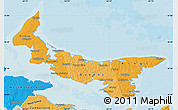 Political Shades Map of Prince Edward Island