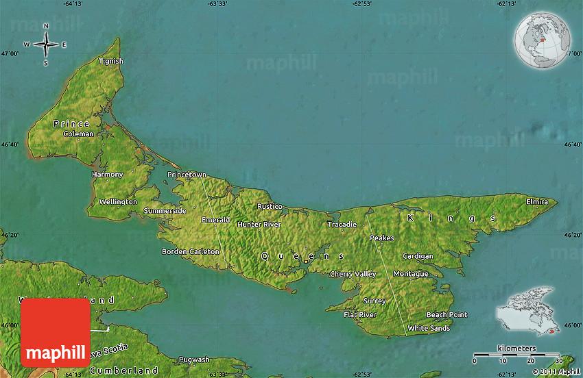 Satellite Map Of Prince Edward Island