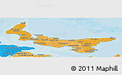 Political Shades Panoramic Map of Prince Edward Island