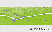 Physical Panoramic Map of Gatineau