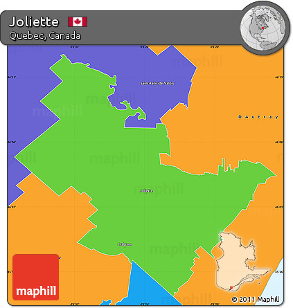 Free Political Simple Map of Joliette