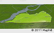 Physical 3D Map of Le Haut-Saint-Laurent, darken