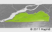 Physical 3D Map of Le Haut-Saint-Laurent, desaturated