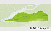 Physical 3D Map of Le Haut-Saint-Laurent, lighten