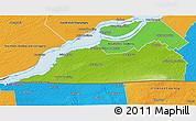 Physical 3D Map of Le Haut-Saint-Laurent, political outside