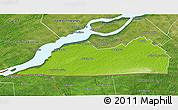 Physical 3D Map of Le Haut-Saint-Laurent, satellite outside
