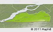 Physical 3D Map of Le Haut-Saint-Laurent, semi-desaturated