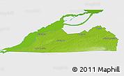 Physical 3D Map of Le Haut-Saint-Laurent, single color outside