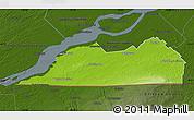 Physical Map of Le Haut-Saint-Laurent, darken
