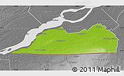 Physical Map of Le Haut-Saint-Laurent, desaturated