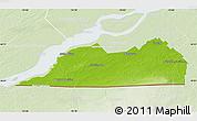 Physical Map of Le Haut-Saint-Laurent, lighten