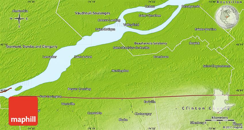Physical Map of Le HautSaintLaurent