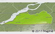 Physical Map of Le Haut-Saint-Laurent, semi-desaturated