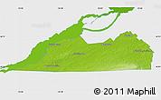 Physical Map of Le Haut-Saint-Laurent, single color outside