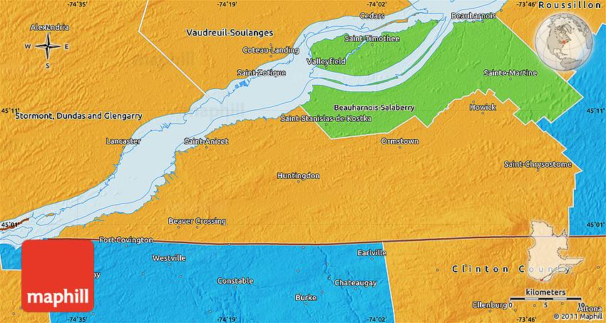 Political Map of Le HautSaintLaurent