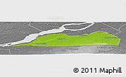 Physical Panoramic Map of Le Haut-Saint-Laurent, desaturated
