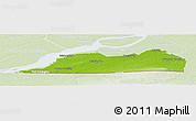 Physical Panoramic Map of Le Haut-Saint-Laurent, lighten