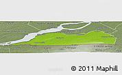 Physical Panoramic Map of Le Haut-Saint-Laurent, semi-desaturated