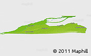 Physical Panoramic Map of Le Haut-Saint-Laurent, single color outside