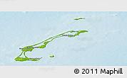 Physical Panoramic Map of Les Îles-de-la-Madeleine