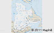 Classic Style Map of Quebec