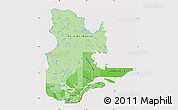 Political Shades Map of Quebec, cropped outside