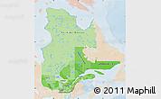 Political Shades Map of Quebec, lighten