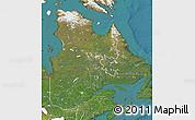 Satellite Map of Quebec