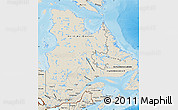Shaded Relief Map of Quebec