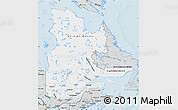 Silver Style Map of Quebec