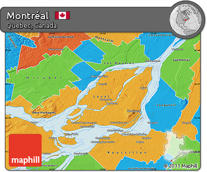 Free Political Map Of Montréal - Montreal canada map