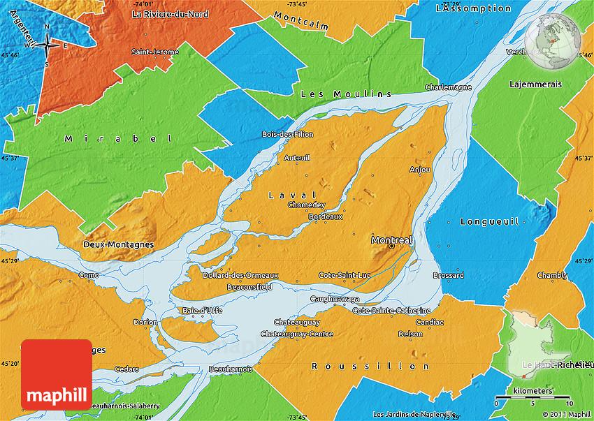 Political Map of Montréal