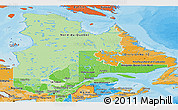 Political Shades Panoramic Map of Quebec