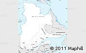 Silver Style Simple Map of Quebec