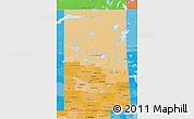Political Shades 3D Map of Saskatchewan