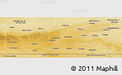 Physical Panoramic Map of Division No.  4