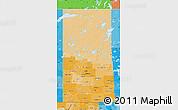 Political Shades Map of Saskatchewan