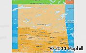 Political Shades Panoramic Map of Saskatchewan