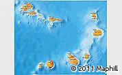 Political 3D Map of Cape Verde